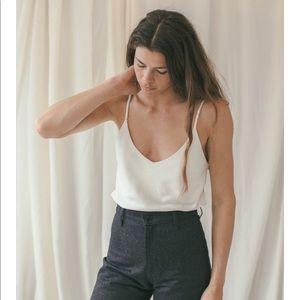 OZMA Silk Noil Camisole — Natural, sz. s
